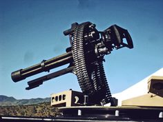 Yes.. This is the Trump card of all machineguns. I will try to find a good image of one giving us a good show.  Dillon Aero M134 Gatling Gun P.S. These are installed on secret svs trucks pop out of the top.. worth the upgrade to your SUV.