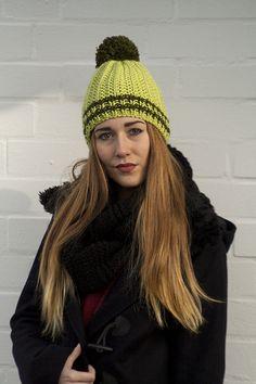 Czapka Tango oliwka z limonką unisex w Barabella_shop na DaWanda.com