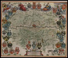 The Blaeu family of map publishers dominated the Golden Age of Dutch cartography during the seventeenth century. Their sumptuous and ornate colour atlases remain the pinnacle of artistic mapmaking and a new site has been launched by the Archive of Leiden to showcase a gorgeous 6-volume work, 'Toonneel des Aerdrycks', produced in the mid-1600s.