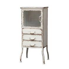 Distressed Metal Cabinet