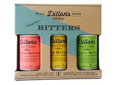 Dillon's Distillers small-batch cocktail bitters flavor drinks with fine natural botannicals.