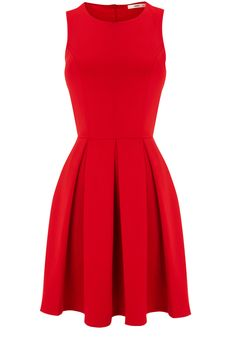 Rich Red Scuba Skater Dress -- I need this as of immediately.
