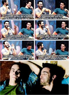 Tyler Hoechlin and Dylan O'brien talking about this perfect little Sterek scene
