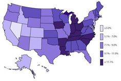 State-based Prevalence Data of ADHD Diagnosis (2011-2012): Children CURRENTLY diagnosed with ADHD (CDC)