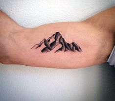 Mountain Tattoo Designs For Men On Bicep