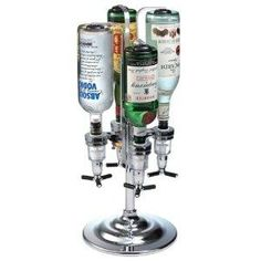 NEW Bar Accessories Global Decor 170 Rotating 4 Bottle 1-1/2-Ounce Drink Dispenser