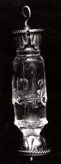 Bottle   X-XI century AD [set in a later European nielloed silver mount dating to XV century AD]