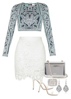 """Untitled #699"" by manoella-f on Polyvore featuring Rochas, Hervé Léger, Zara, Ariella Collection, women's clothing, women's fashion, women, female, woman and misses"