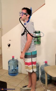Matthew: I basically put a keg on my back as my air tank while I had a snorkel and mask on.