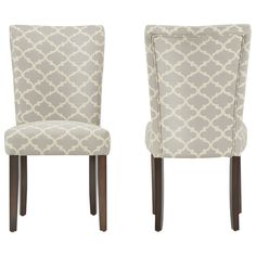 INSPIRE Q Catherine Moroccan Pattern Fabric Parsons Dining Chair (Set of 2)