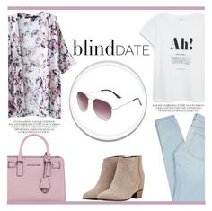 """Take Me On A Blind Date"" by irena123 ❤ liked on Polyvore featuring Marc by Marc Jacobs, MANGO, MICHAEL Michael Kors, Golden Goose, women's clothing, women, female, woman, misses and juniors"