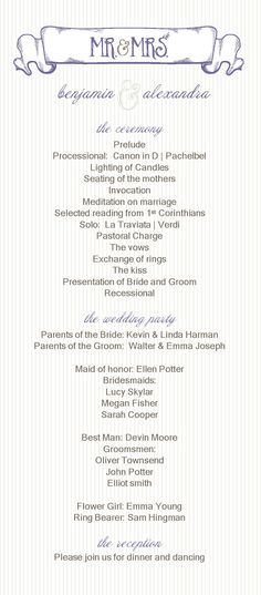 Free Catholic Wedding Program Template  Catholic Wedding Program
