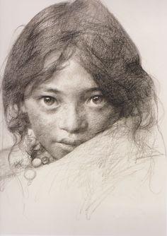 Portrait of a Tibetan girl III by Aixuan.deviantart.com on @deviantART