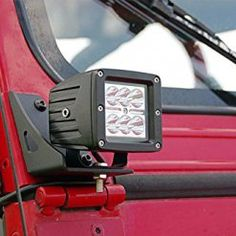 Rough-Country-70510-Lower-Windshield-Light-Mounts-Jeep-YJ-for-Jeep-Wrangler-YJ-4WD-0-0