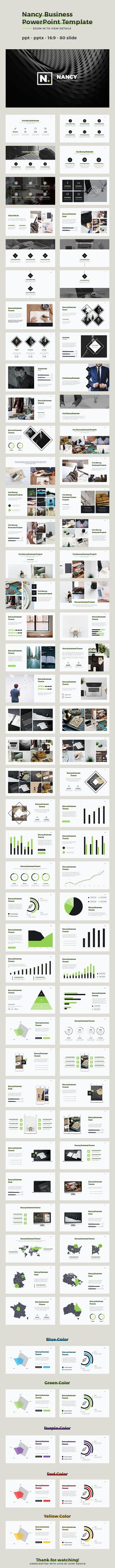 Nancy Business  PowerPoint Template. Download here: http://graphicriver.net/item/nancy-business-powerpoint-template/15720110?ref=ksioks