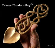 """Love Spoon """"Heart Spoon"""" - Carved by hand following the Welsh tradition. €55.00, via Etsy."""