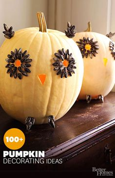 If pumpkin carving isn't for you, don't worry -- our Halloween pumpkin decorating ideas and projects yield eye-popping pumpkin displays without the goopy mess.