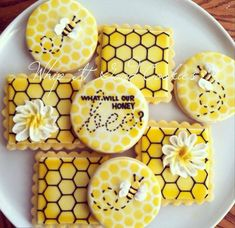 Gender Reveal Bee Cookies
