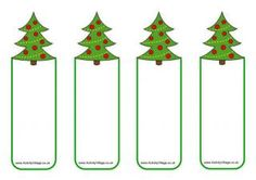 Here's a blank version of our Christmas tree bookmarks, so there is space for you or your child to write a message or record your reading book page number. They take a little cutting, but they look great peaking out of a Christmas book! Christmas Jokes For Kids, Teacher Christmas Gifts, Christmas Tree Themes, Christmas Activities, Christmas Crafts, Christmas Ornaments, Christmas Stuff, Christmas Templates, Christmas Printables