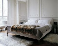 furriness in bedroom décor! I love it.