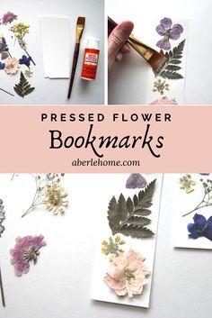 Easy Pressed Flower Bookmarks