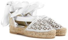 """Pin for Later: 65 flache Schuhe für die Braut, die Komfort bevorzugt  Oscar de la Renta Espadrilles """"Adriana"""" aus Leder (392 €)"""