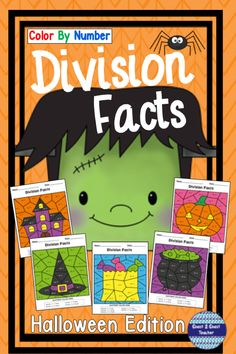 Halloween Division Color By Number Halloween Division, Halloween Math, Halloween Activities, Halloween Season, Halloween Themes, Holiday Activities, Teaching Division, Division Activities, Math Activities