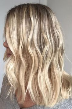 golden blonde tones