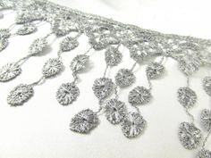 Gray in Pictures by Ann on Etsy Lace Bridal, Rose Lace, Fringe Trim, Victorian Fashion, Lace Trim, Beaded Jewelry, Crochet Necklace, Beads, Yard