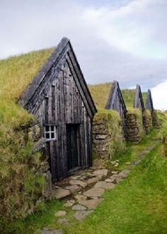Irish farmhouses.