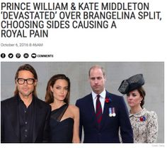 "cool Prince William, Kate Middleton NOT ""Choosing Sides"" In Brad Pitt, Angelina Jolie Divorce, Despite Report"