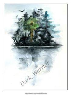 Watercolor: Island