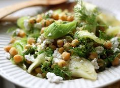 Lemony Leeks with Chickpeas and Feta