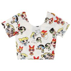 O-Mighty POWERPUFF GIRLS CROP TOP at Shop Jeen SHOP JEEN ($40) ❤ liked on Polyvore featuring tops, crop tops, shirts and crop
