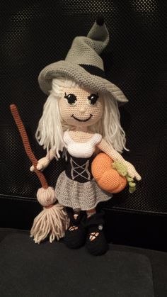 crochet doll witch by Sammiscraftshop on Etsy