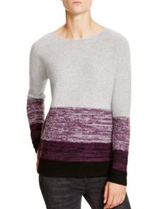 C by Bloomingdale's Marled Stripe Cashmere Sweater | Bloomingdale's