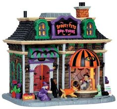 45668 - Spooky Pets Boo-Tique - Lemax Spooky Town Halloween Village Houses & Buildings - Lemax Village Collectibles