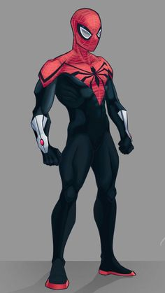The legs can be better, it's still cool Superior Spider-man Spiderman Kunst, Black Spiderman, Amazing Spiderman, Spiderman Anime, Spiderman Marvel, Marvel Dc Comics, Marvel Heroes, Superhero Design, Marvel Characters