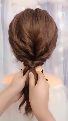 Long Hairstyle Tutorial Long hairstyles tutorial showing how to turn a ponytail into a cute and unique beautiful hair style for long hair. Bun Hairstyles For Long Hair, Braided Hairstyles, Hairstyles Haircuts, Hairstyles Videos, Simple Hair Updos, Easy Hairstyles For Work, Office Hairstyles, Amazing Hairstyles, Hair Up Styles