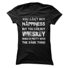 You Can't Buy Happiness But You Can Buy Whiskey Which Is Pretty Much The Same Thing T Shirts, Hoodies. Get it now ==► https://www.sunfrog.com/Funny/You-Cant-Buy-Happiness-But-You-Can-Buy-Whiskey-Which-Is-Pretty-Much-The-Same-Thing-Tshirt.html?57074 $21.99