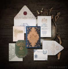 Game of Thrones Wedding Invitation inspired by House Stark  by Atelier Isabey
