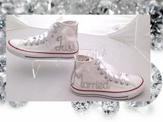 Just married shoes / Wedding converse / Just by CindersWish