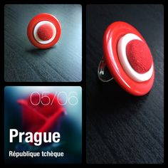 #DIY Hand made red ring/ petite bague rouge et blanche Creations, Headphones, Electronics, Diy, Red Rings, Red And White, Headpieces, Bricolage, Ear Phones