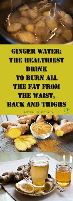 Ginger Water: The Healthiest Drink To Burn All The Fat From The Waist, Back And Thighs Ingwerwasser: Das gesündeste Getränk zur Fettverbrennung an Taille, Rücken und Oberschenkeln Healthy Drinks, Healthy Tips, How To Stay Healthy, Healthy Detox, Easy Detox, Detox Foods, Healthy Water, Vegan Detox, Ab Foods