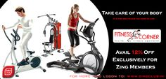 Avail 12% Off Exclusively for Zing Members at Fitness Corner,