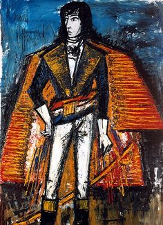 Bernard Buffet - Général d'Empire - 1961 oil on canvas - 202,5 x 130 cm