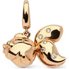 QEELIN Qin Qin 18ct rose gold diamond pendant