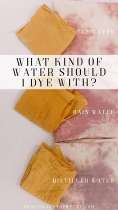 What Type of Water Should I use to Naturally Dye? : What Type of Water Should I use to Naturally Dye? Natural Dye Fabric, Natural Dyeing, Textiles, Tinta Natural, Shibori, Fabric Dyeing Techniques, Art Techniques, Do It Yourself Inspiration, Do It Yourself Fashion
