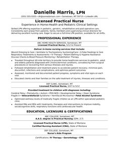 practical nursing resumes