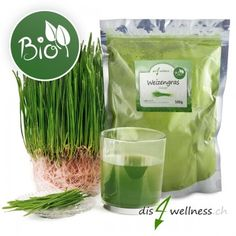 Weizengras Pulver in Bio Qualität. Weizengras Pulver ist glutenfrei, gesund und enthält viele Vitalstoffe. Weizengras Pulver eignet sich bestens in Grünen Smoothies zur Entschlackung und Detox-Kur. Detox Kur, Superfood, Herbs, Drinks, Smoothies, Gluten Free, Amazing, Health, Eten